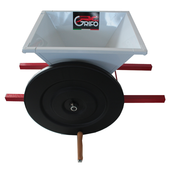 mini grape crusher by hand pmn grifo marchetti enology machines