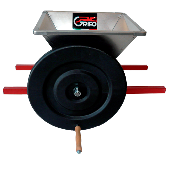 mini stainless steel grape crusher by hand pmni grifo marchetti enology machines