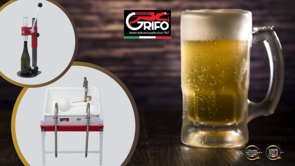The art of making beer thanks to Grifo's FILLING MACHINES and CORKERS!